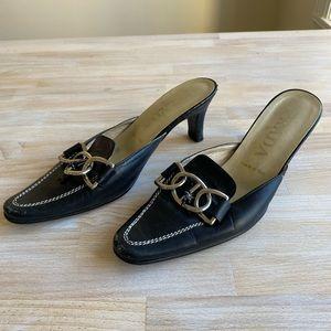 Authentic Prada Black Leather Heels